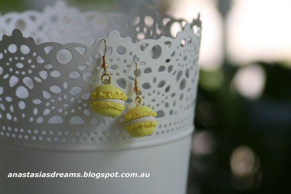 Earrings Macaroon Earrings Miniature Food by AnastasiasDreams