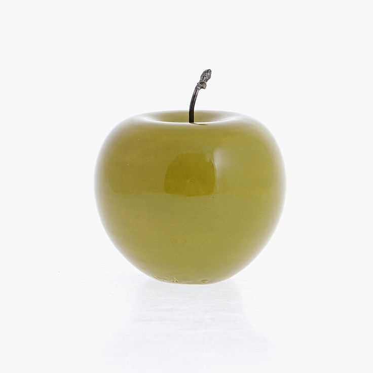 Apple Green Ceramic Fruit Ornament, Handmade 9x7cm (3.5x3') * You can find out more details at the link of the image.