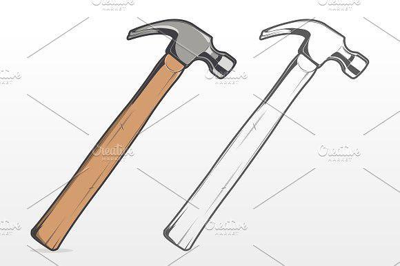 Wooden Hammer Hammer Drawing Hammer Hammer Tattoo