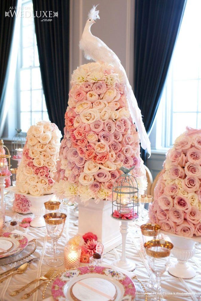 Beautiful tabletop arrangement | Corina V. Photography, Floral design : Fuscia Designs