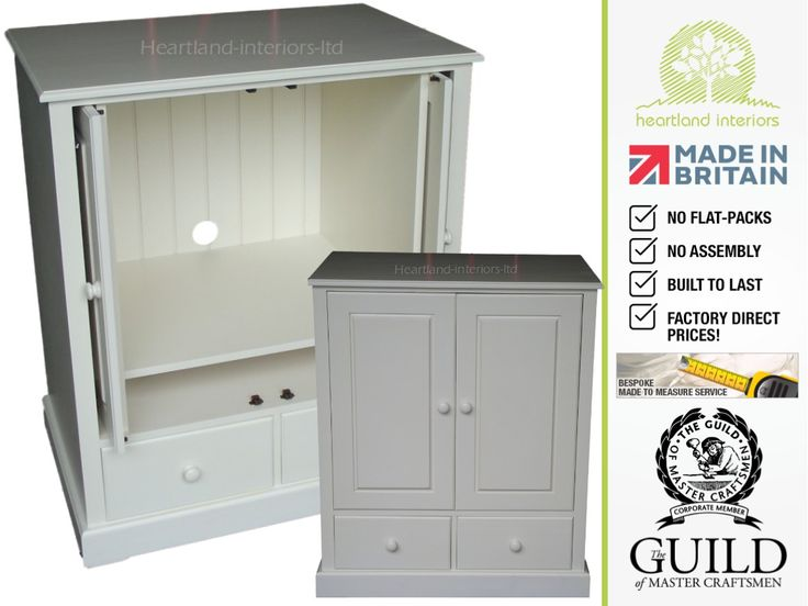 Traditional Painted Hideaway TV Unit, Media Cabinet with Drawers TVHAC1