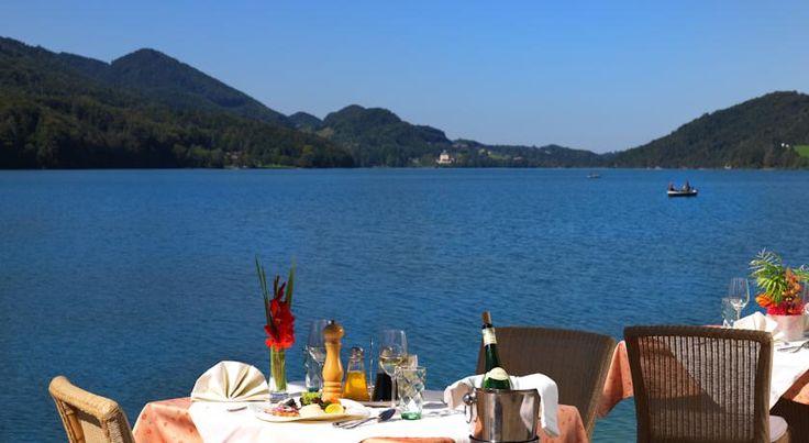 Hotel Seerose Fuschl am See, Austria: Agoda.com. Gorgeous view during lunch.
