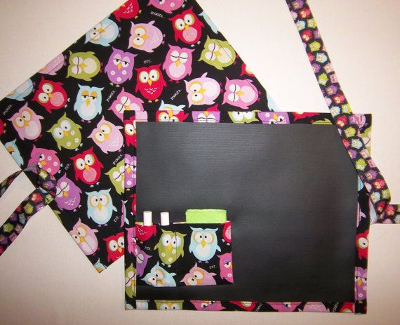 Owls Travel Chalkboard For Kids/Placemat by Allinastichquilts