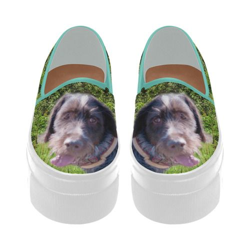 Dog and Flowers Selene Deep Mouth Women Shoes (Model 311)