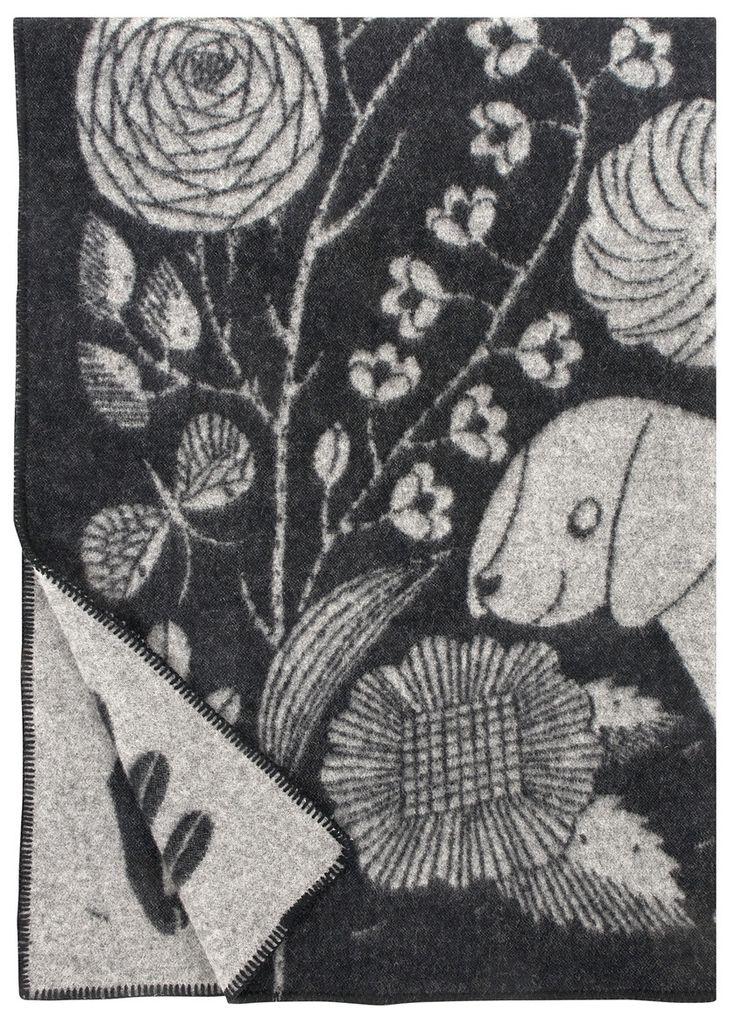 KOIRA JA KISSA wool blanket   Lapuan Kankurit