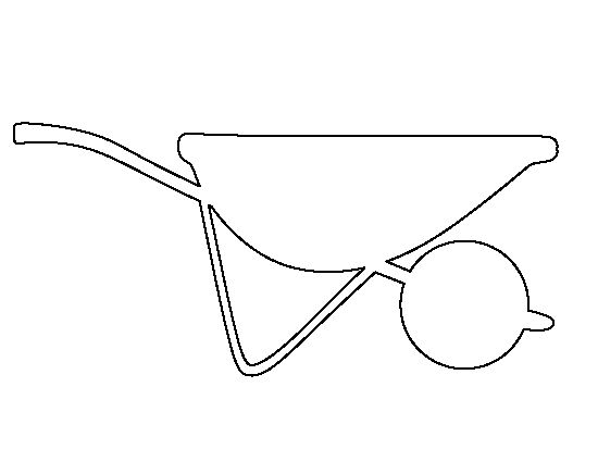 Wheelbarrow Pattern Use The Printable Outline For Crafts