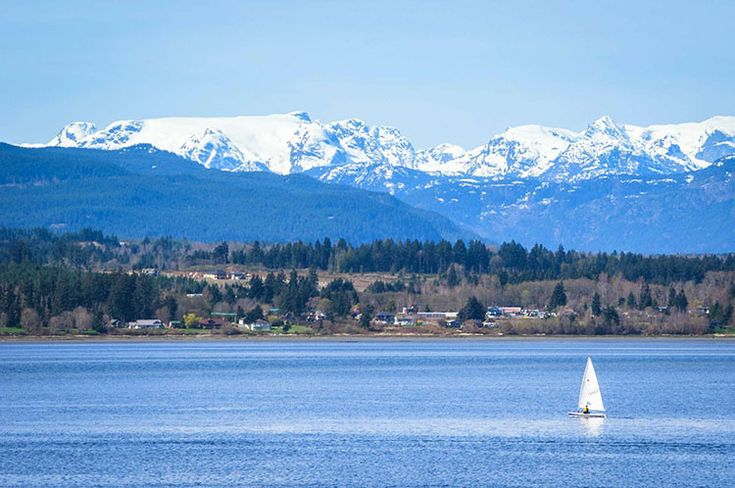 A view of the Comox Glacier in the Comox Valley - what a stunning ocean paradise.