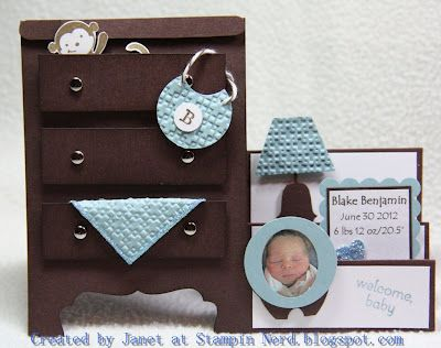 Create baby card recreating the nursery or any other room in house.