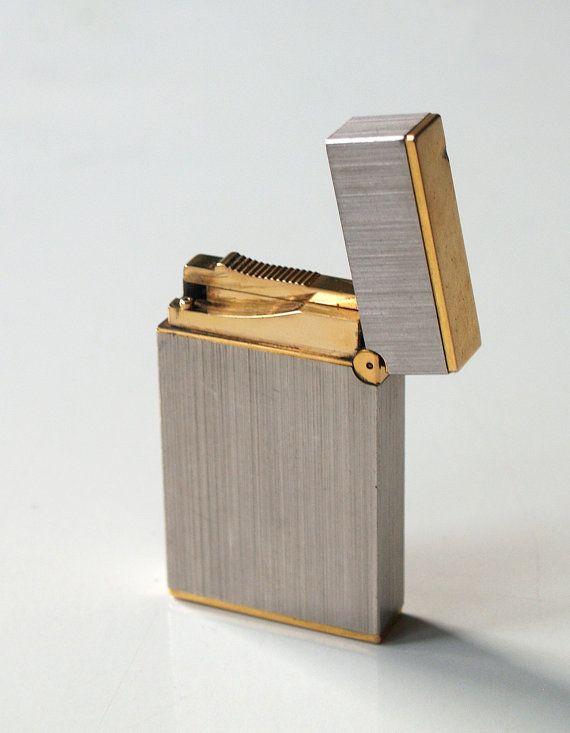 S.T. Dupont Lighter Made in Paris France vintage silver-gold