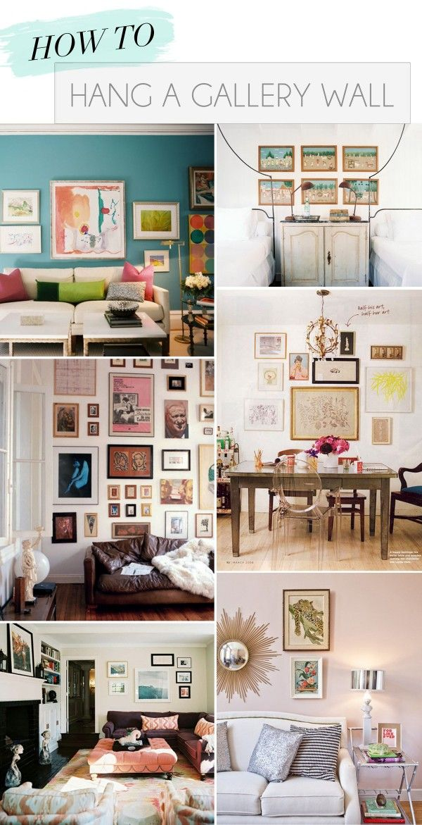 how to hand a gallery wall