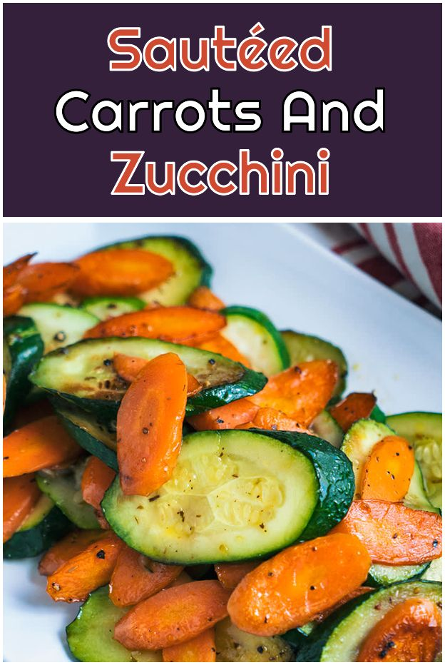 Sautéed Carrots And Zucchini No Thyme Garlic Parsley Or
