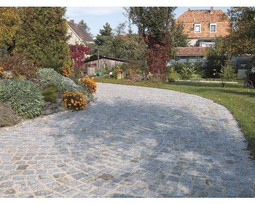granit pflasterstein grau ca 11x11x11cm bei hornbach kaufen auffahrt und carport driveway. Black Bedroom Furniture Sets. Home Design Ideas