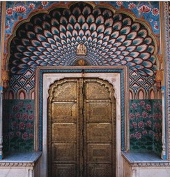 An beautiful door in Jaipur, India.