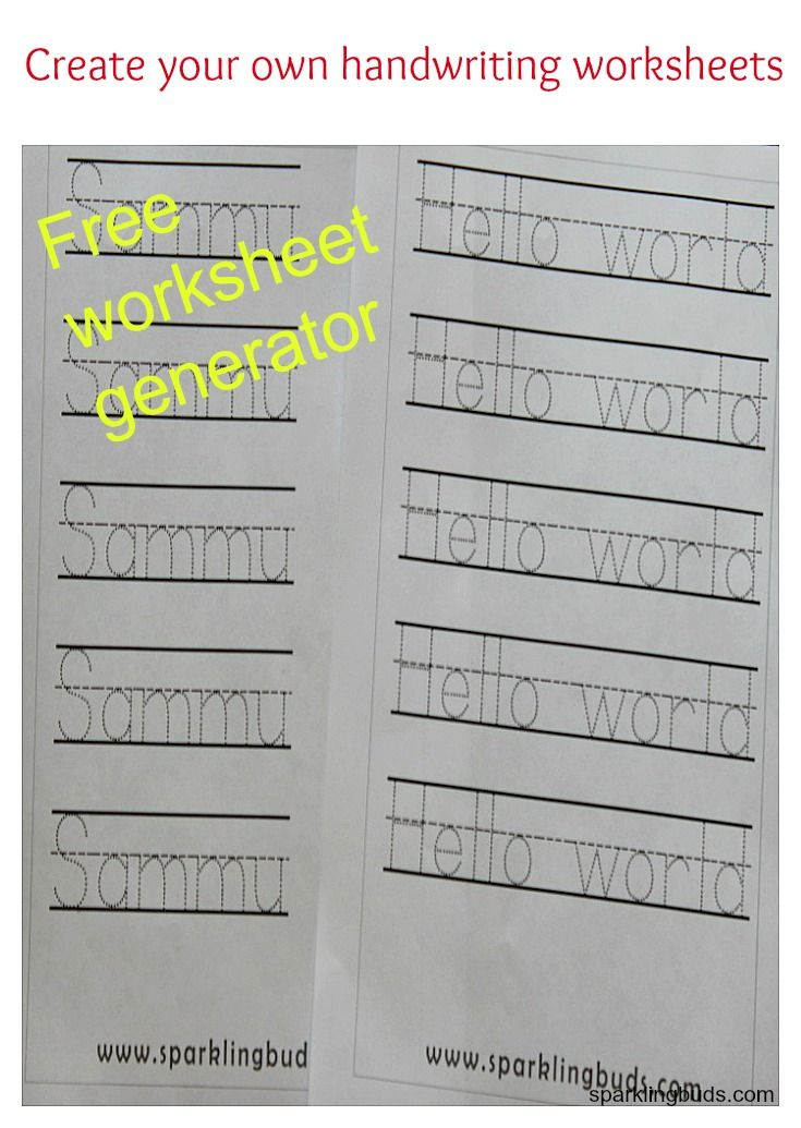 Worksheets Free Handwriting Worksheets Name 17 best ideas about free handwriting worksheets on pinterest worksheet generator