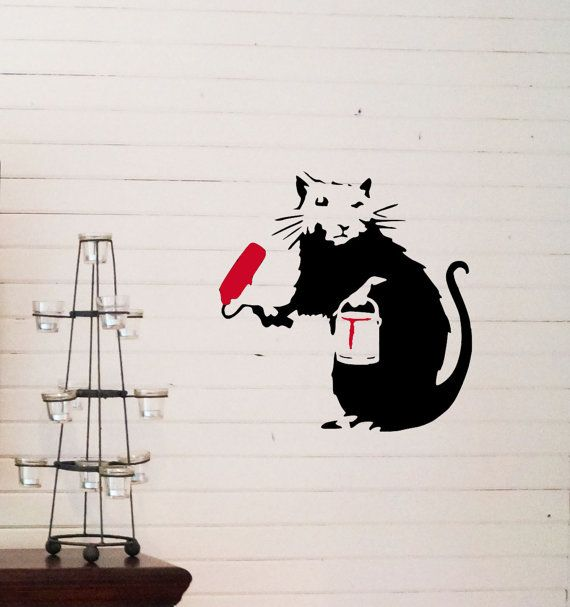 Banksy Painting Rat reusable STENCIL for room interior decor / Not a decal - from Create Cuts