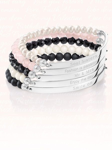 Free engraving included! Personalize your very own Love Bridge bracelet from THOMAS SABO!