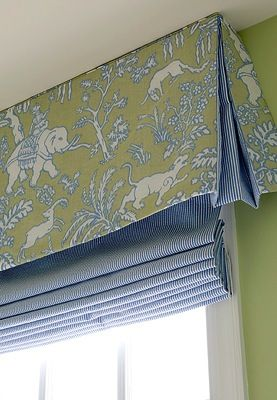 Try a contrasting pelmet over the top of a roman blind if you have the height. #formalblindideas