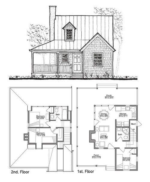 Leave the second floor as one big room as a master? // Small House Plans