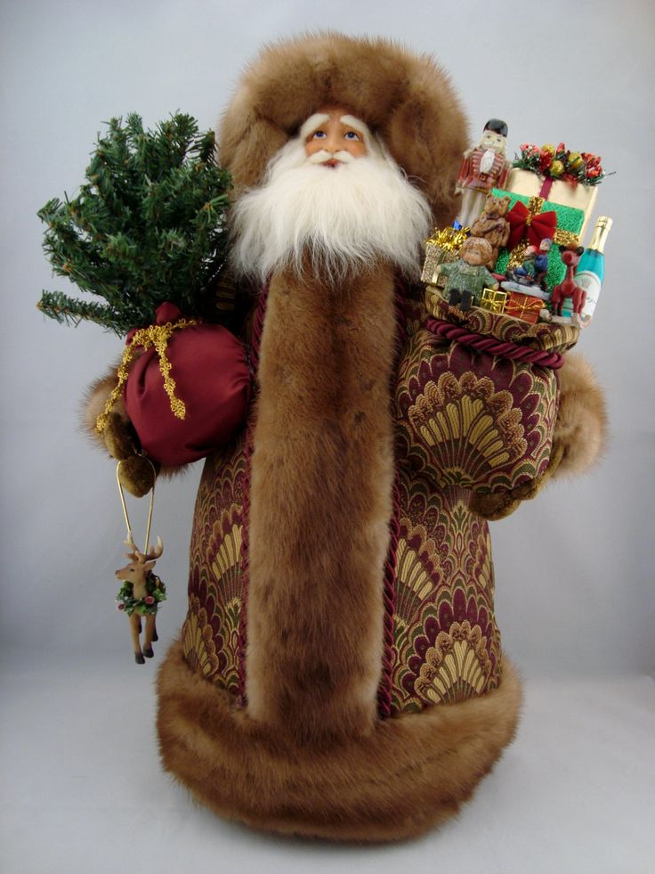 "Elegant Victorian Santa - Santa Claus Doll - 22"" Tall - pinned by pin4etsy.com"