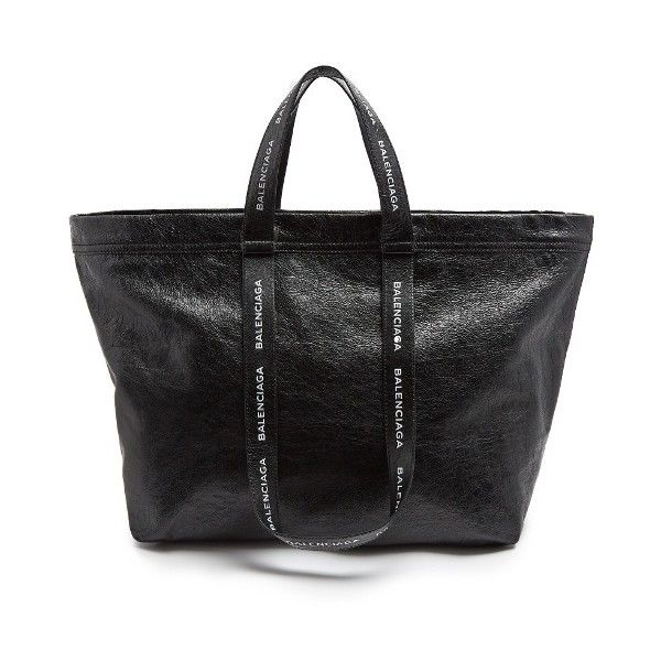 Balenciaga Carry Shopper M leather bag (€1.670) ❤ liked on Polyvore featuring men's fashion, men's bags and balenciaga mens bag