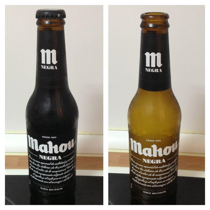 Mahou negra. 5,5% alcohol. Muy bien sabor y mucha suavidad ...