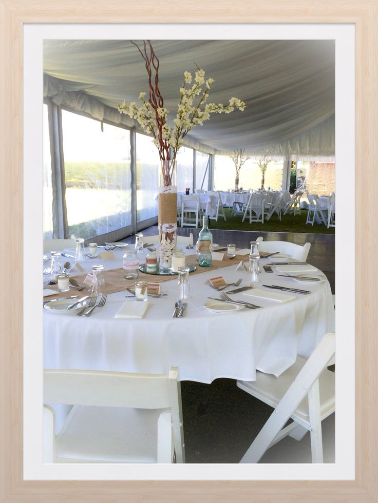 Tracey and Gregs Wedding in our Mac-Hire 10x21m hocker structure clear window marquee in Orange NSW