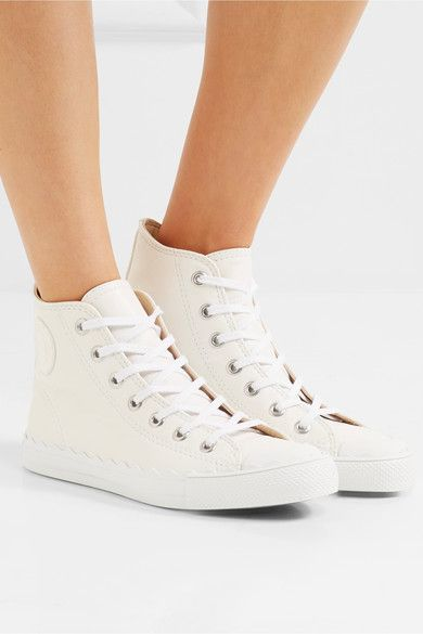 Chloé - Kyle Leather High-top Sneakers - White - IT38