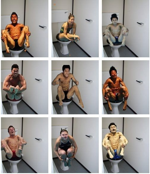 Olympic Divers On The Toilet #photoshop #HILARIOUS