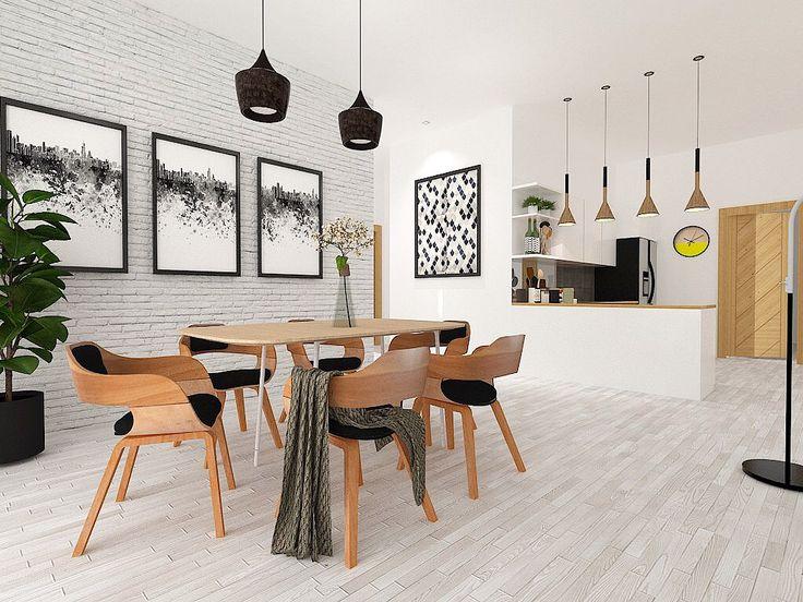 scandinavian dining room by Angel Kharenza
