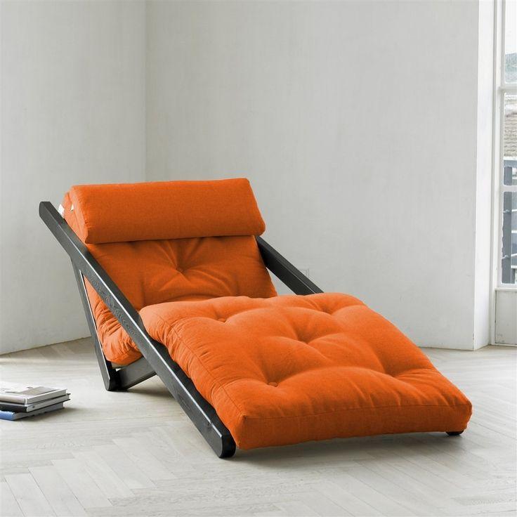 orange figo futon by fresh futon