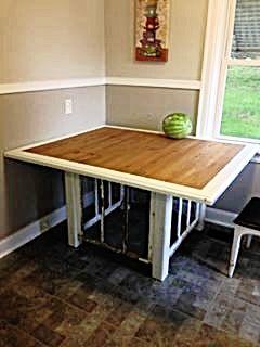 Custom Wood Shabby Chic Dining Table