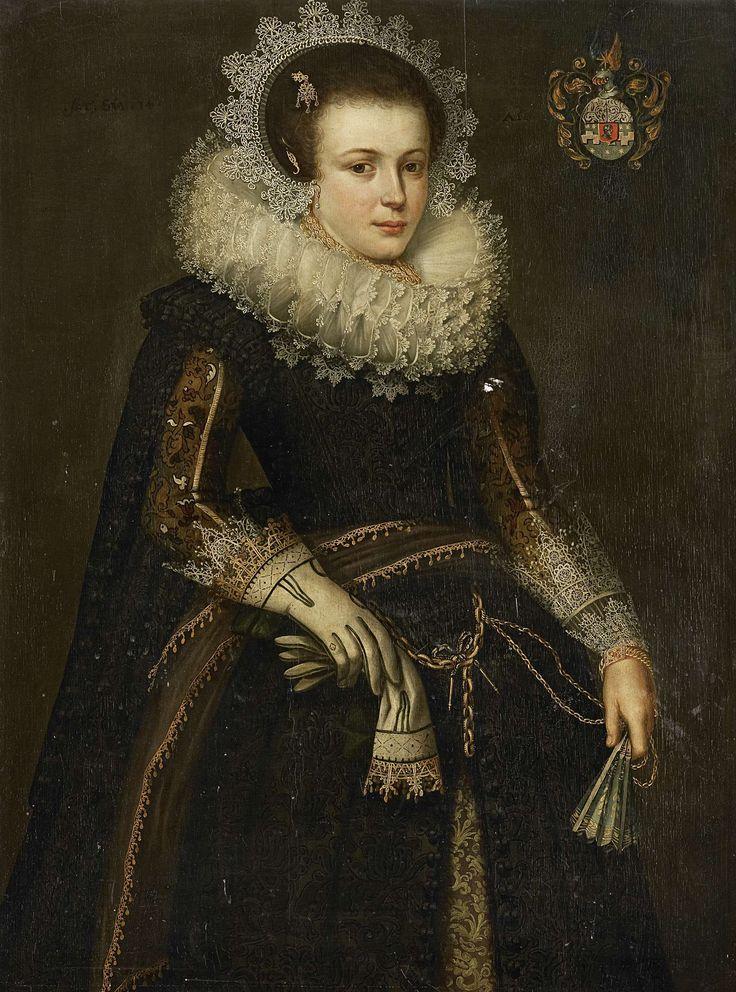 Portrait of Mertijntje van Ceters, Anonymous, , 1623