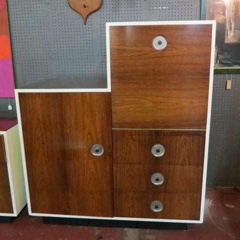 SOLD. Vintage Danish mid-century modern rosewood #chest cabinet ...