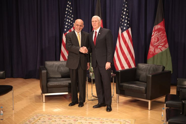 https://flic.kr/p/RDEX1w | VP Pence with Ashraf Ghani President of Afghanistan prior to their bilateral meeting. | VP Pence with Ashraf Ghani President of Afghanistan prior to their bilateral meeting.