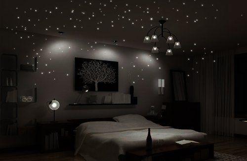 Adesivi murali della parete della parete del tatuaggio adesivi murali adesivi soggiorno camera da letto per bambini luce brillante centro stella del cielo luminanza luminosa stella stelle fluorescenti 20-256 pcs (M-set): Amazon.it: Casa e cucina