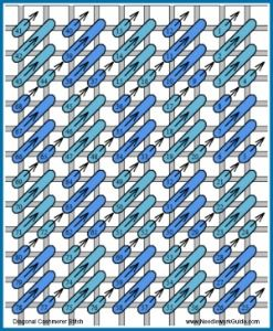 Diagonal Cashmere Stitch