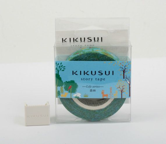 KIKUSUI Story Tape  Life series  Forest by Vespapel on Etsy, $9.50