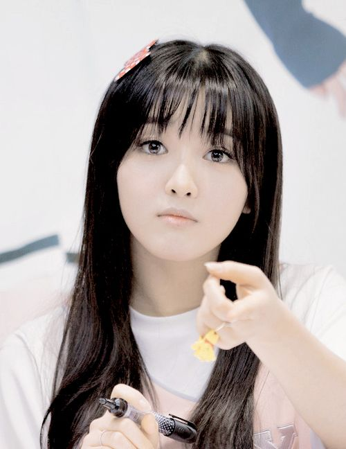 This is a picture of Chanmi from the Kpop girl band AOA.