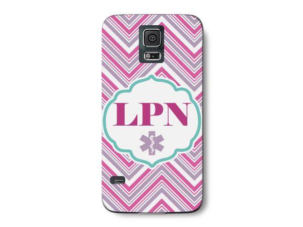 LPN Chevron Pink Licensed Practical Nurse Phone Case