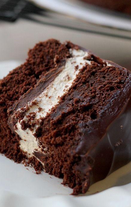 Salted Caramel Ding Dong Cake: