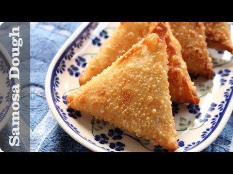 Samosa Dough Recipe (Sambusa pastry, sambousek wrappers) - http://2lazy4cook.com/samosa-dough-recipe-sambusa-pastry-sambousek-wrappers/