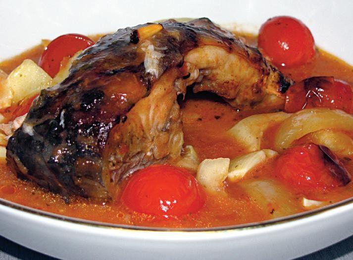 Crap în sos roşu cu usturoi | Retete culinare - Romanesti si din Bucataria internationala