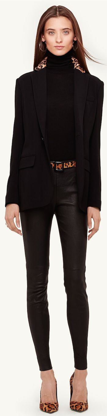 Chic Outerwear and Jackets from Ralph Lauren Black Label / BLACK LABEL HAIRCALF-TRIM NATHANIEL JACKET