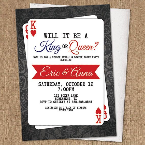 Baby shower casino invitations casino watts per square foot estimations