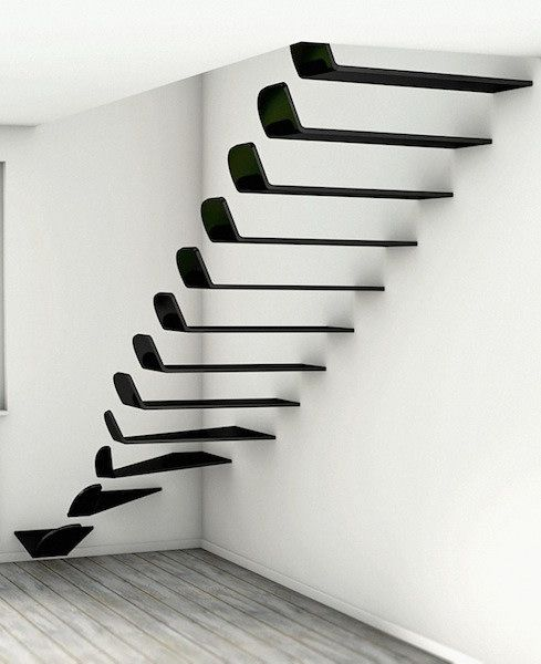 Ukraine-based designer and digital artist Max Ptk recently has created the flying stairs WING.