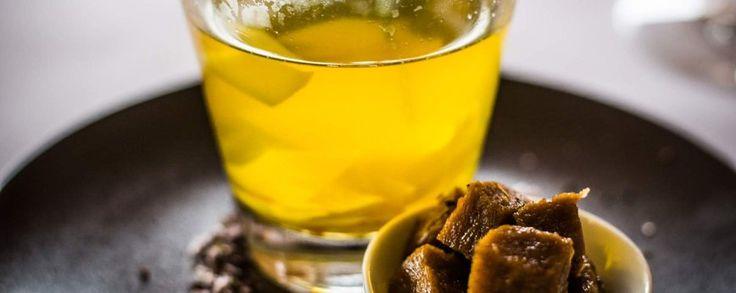 Bouillon van groenten recept met blokjes seitan in marinade van truffel #amanprana #noblehouse #amanvida #bertyn #soep #truffel #seitan #bouillion #groenten #bio #gezond