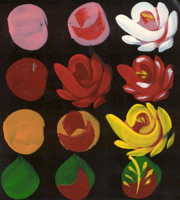 Easy way to paint roses in a few steps art activities for How to paint a rose in watercolor step by step