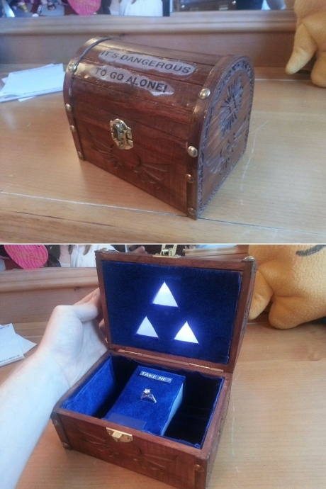 Legend of Zelda proposal. I really think I would die!