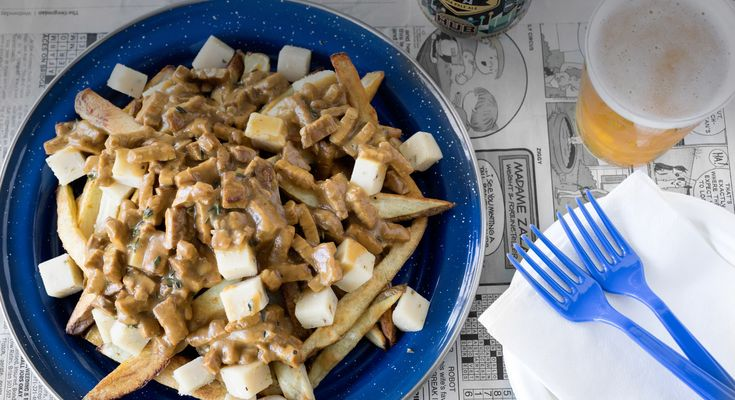 vegetarian poutine with bacon recipe dishmaps vegetarian poutine ...