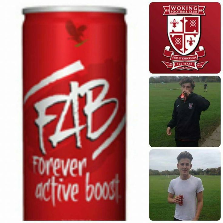 Woking FC's academy players trialling the FAB energy drinks
